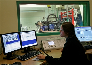 Figure 1. Automated test cells are utilized to develop, characterize and test new engine designs.